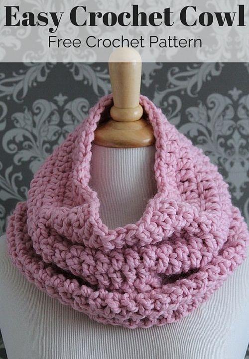 Free Crochet Infinity Scarf Pattern | Cuellos de lana, Capilla y Tejido