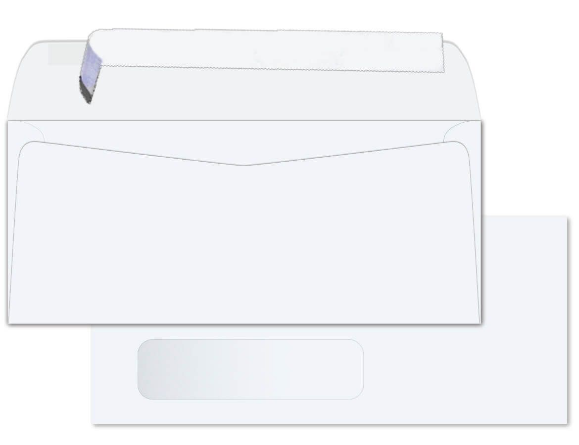10 Window Envelopes 24lb White Wove Peel To Seal Side Seam 2500 Pk In 2020 Window Envelopes Seam