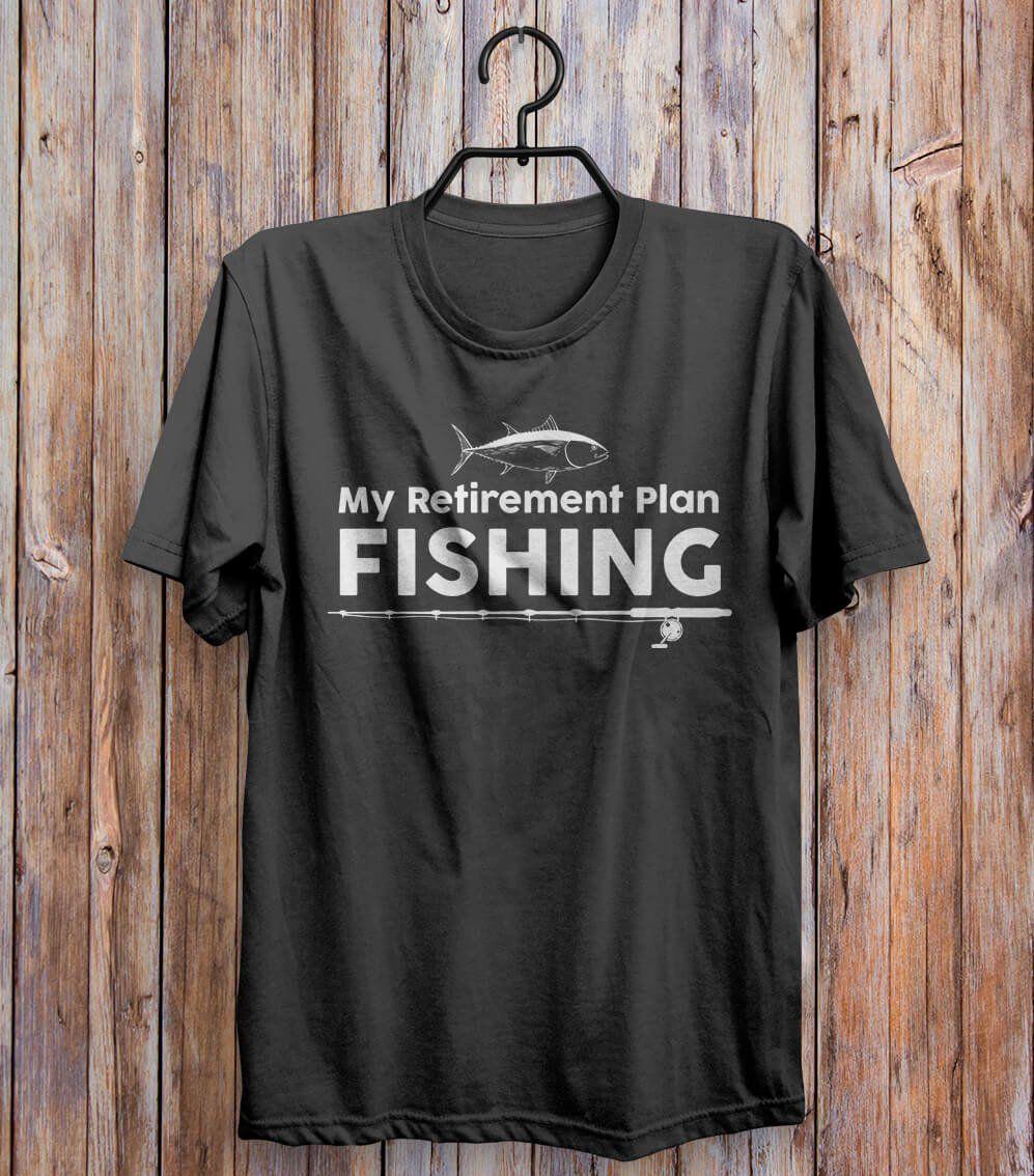 My Retirement Plan Fishing T-shirt Black