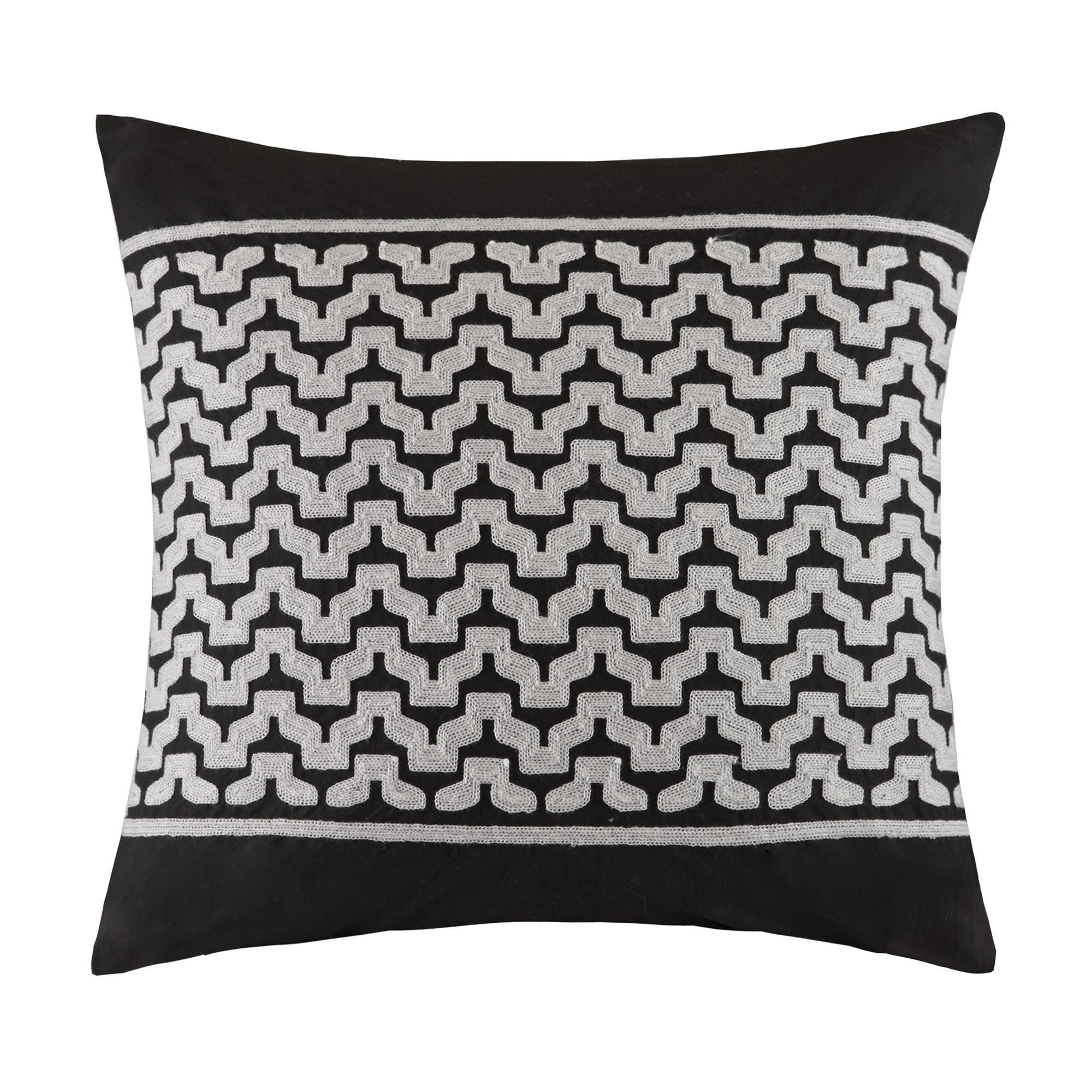 Cheyenne Embroidered Cotton Throw Pillow Products Pinterest - Cojines-negros