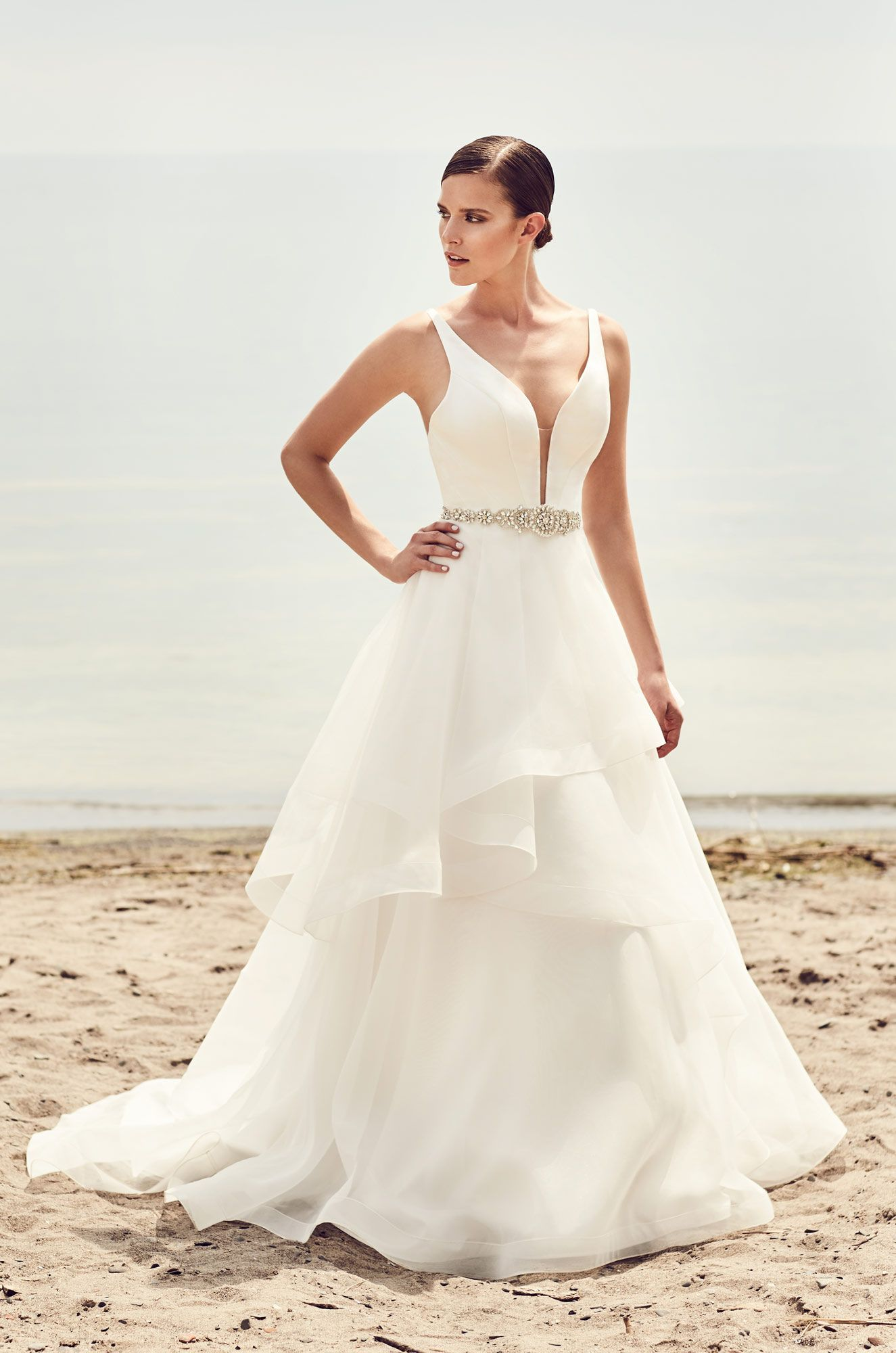 3b48cfebbde Tiered Organza Skirt Wedding Dress - Style  2112 in 2019