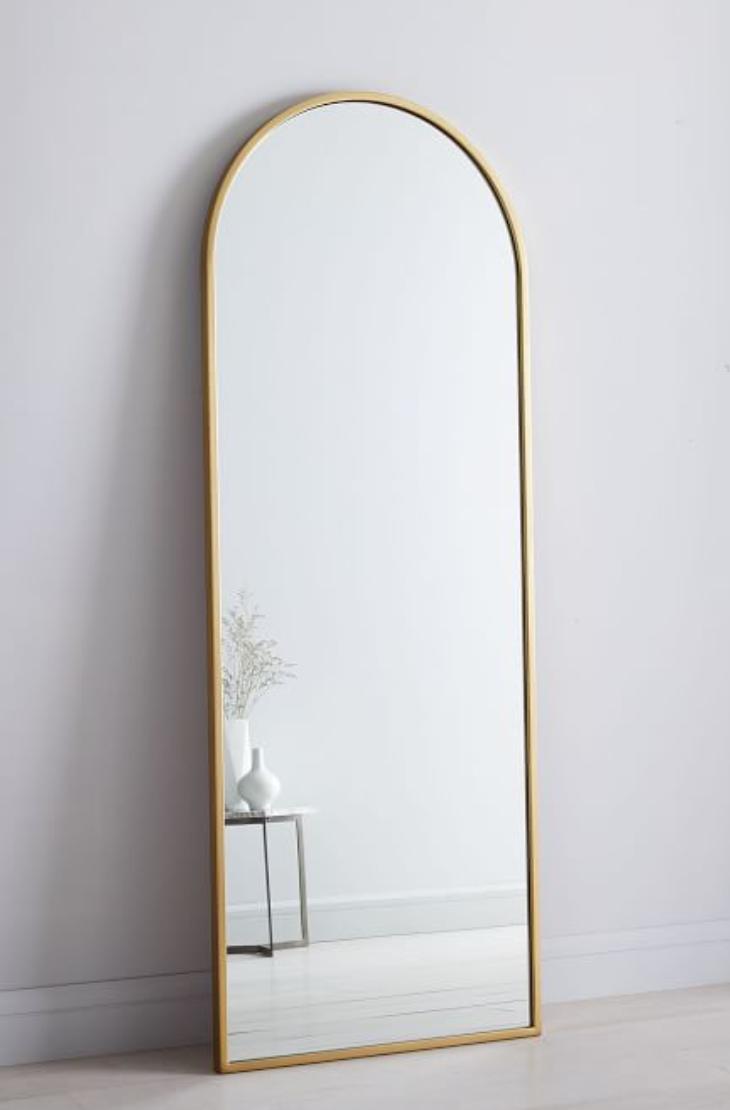 Metal Framed Arched Floor Mirror | West Elm