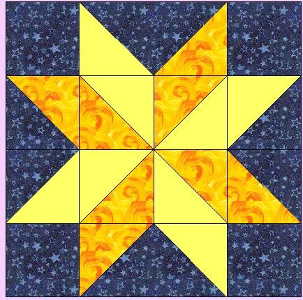 Missouri Quilt Block Patterns | For the hunter star block you will ... : simple star quilt pattern - Adamdwight.com