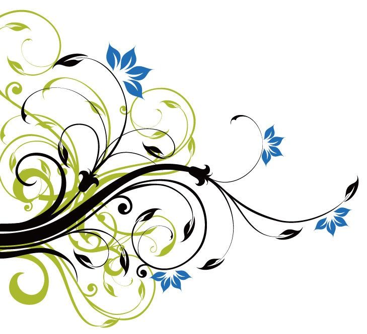 swirl floral decoration background