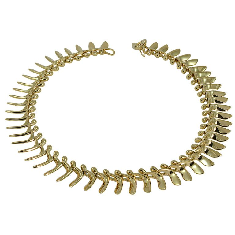 Georg Jensen Gold Necklace No. 1115 Designed by Bent Gabreilsen ...