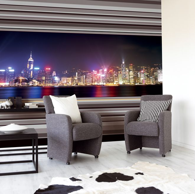 Wall Art With Lights fake your city view with bright lights big city wall art | wall