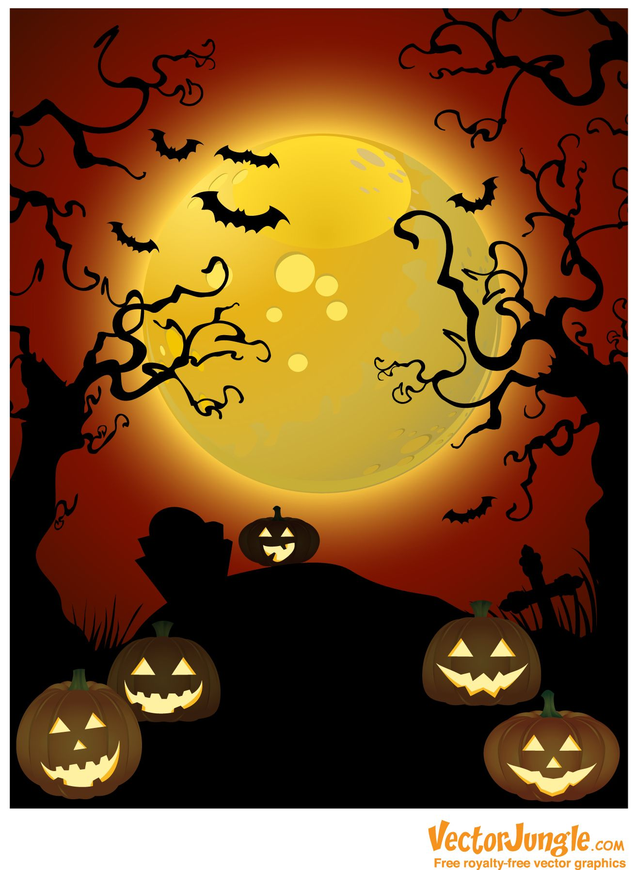 Free Halloween Backgrounds | Free Halloween Vector Background ...