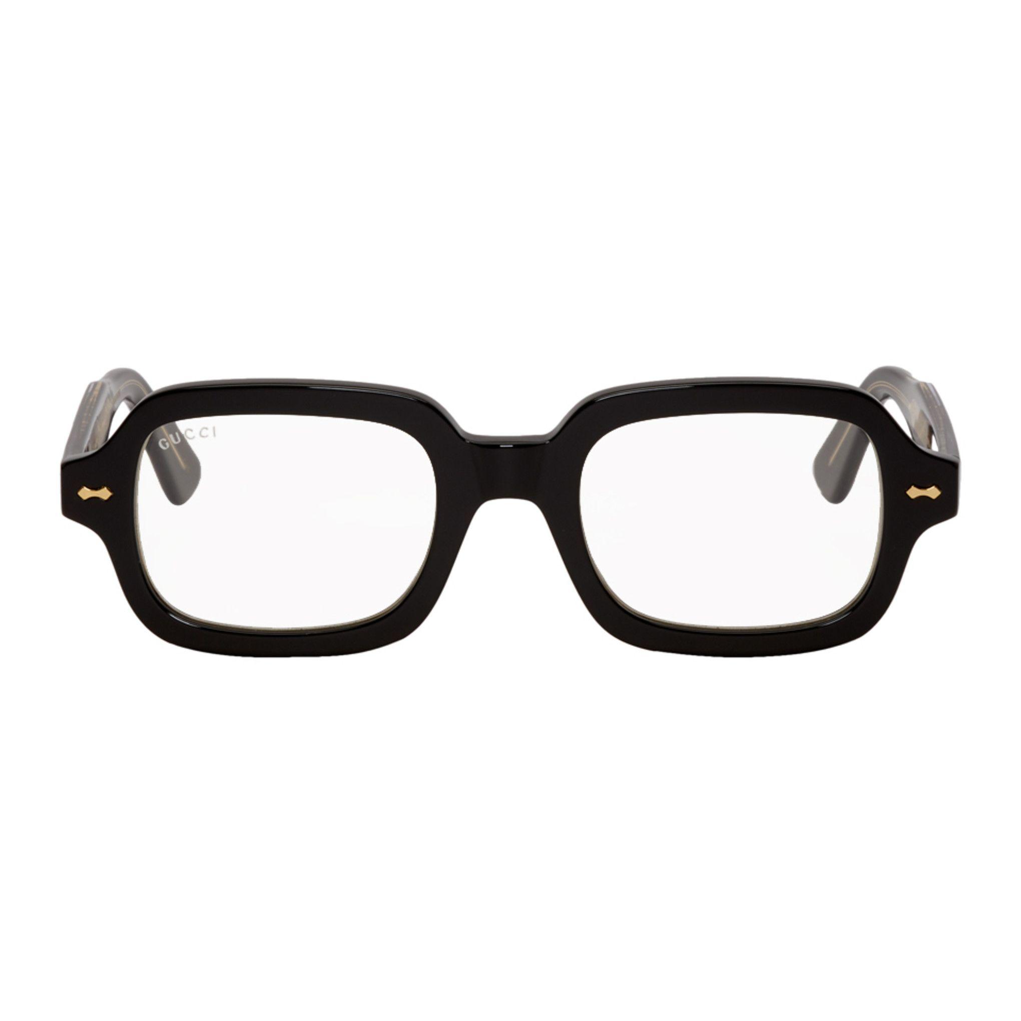 Gucci Black Rectangular Glasses