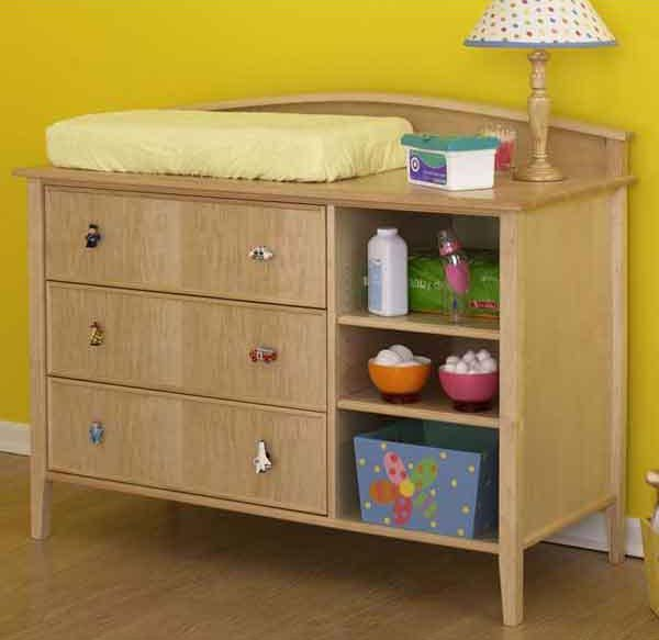 Kids Bedroom Furniture Stores: Baby Changing Table And Dresser Woodworking Plan, Indoor