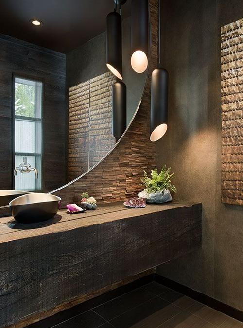 CHRYSTAL piano lavabo mensola da bagno in legno massello di ...