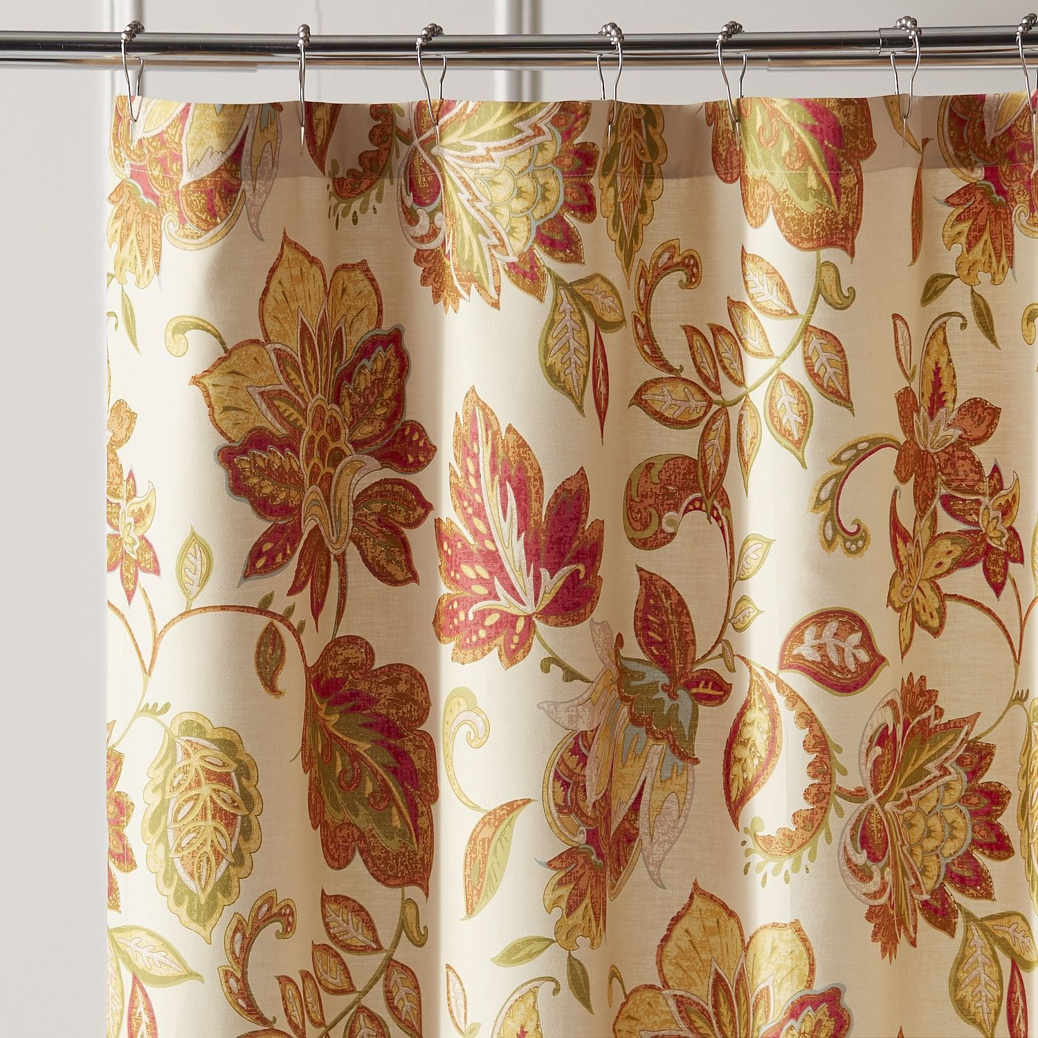 Glencove Spice Shower Curtain Red