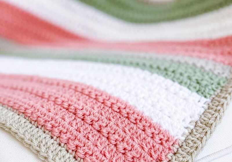 Quick and Easy Crochet Pattern - Easy Crochet Blanket with Texture - Daisy Cottage Designs
