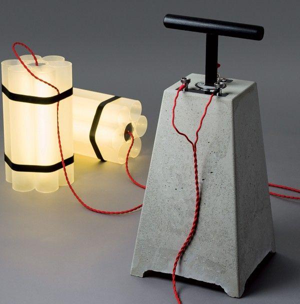 Mr Boom Little Miss Dynamite Par Docstone Journal Du Design Lampe Design Lampe En Tuyau Lampe Diy