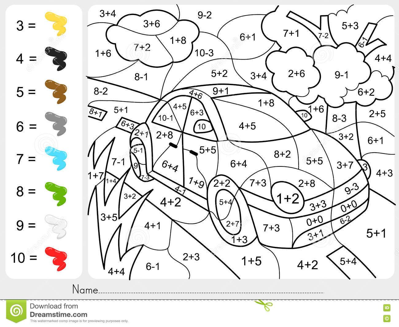 Pin By Nina On Deti Math Coloring Math Coloring Worksheets Addition And Subtraction Worksheets