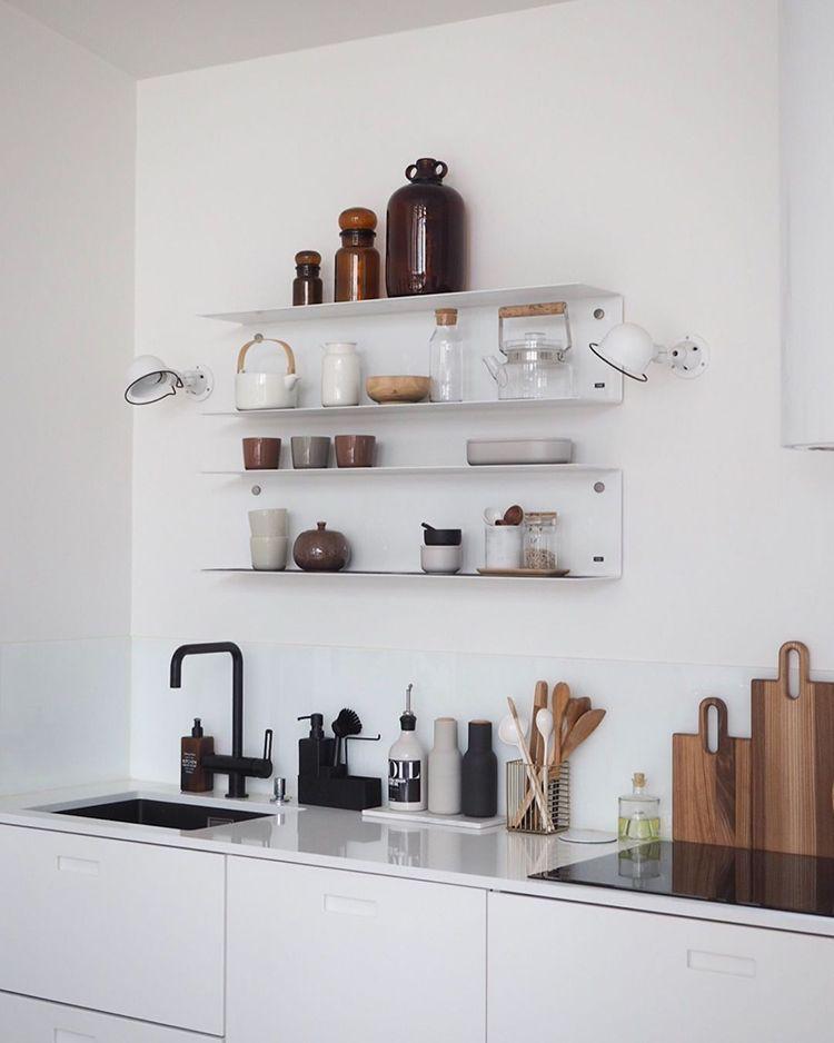 Open kitchen shelves styling inspiration