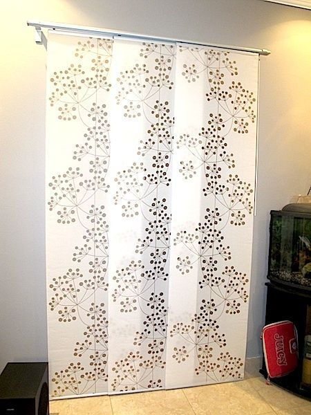3 Panel Solid Wood Screen Room Divider Blinds Shades: Ikea Panel Curtain With Kvartal Rails (I Plan On Using