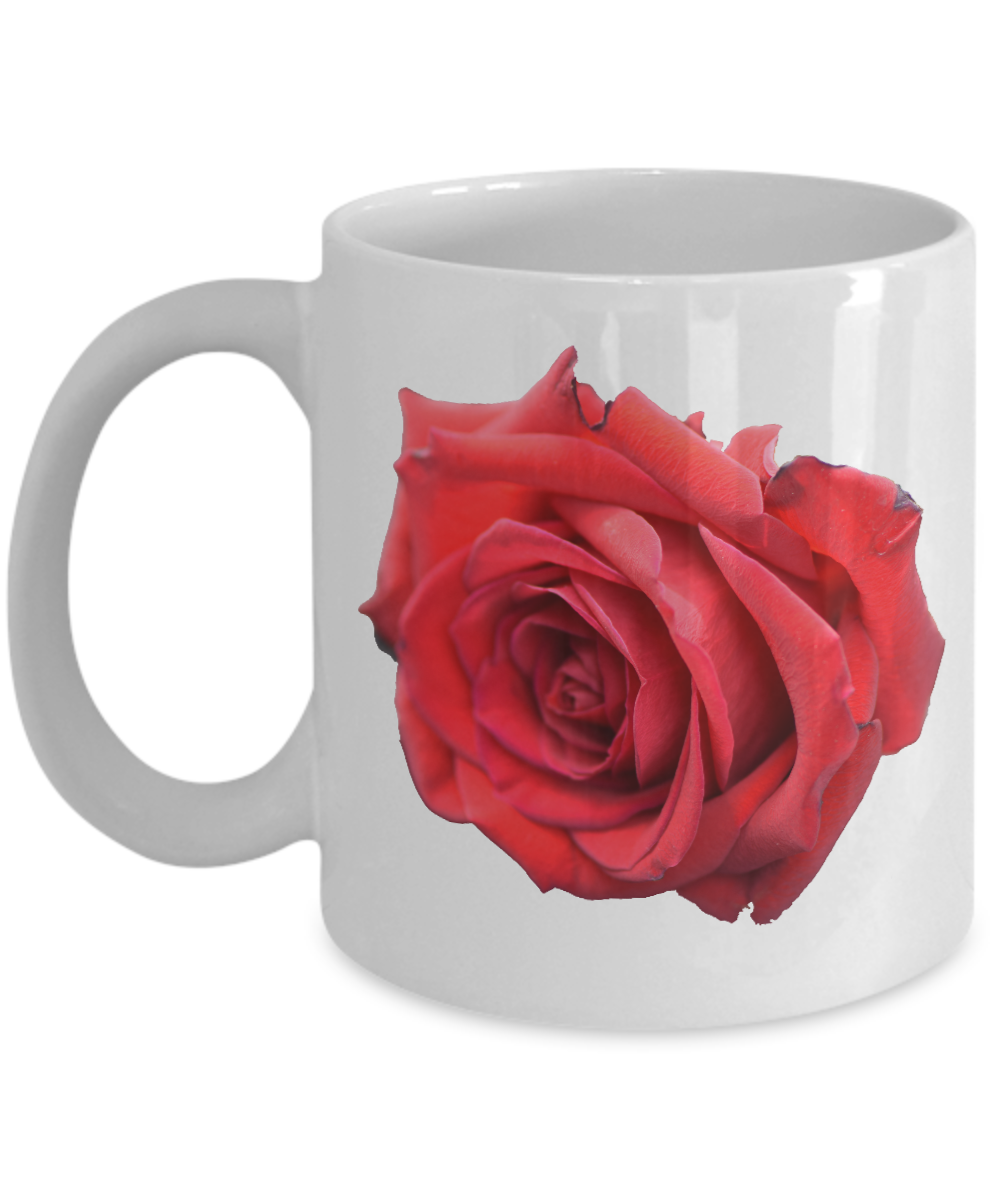rose mug red rose coffee mug beautiful red rose image on white