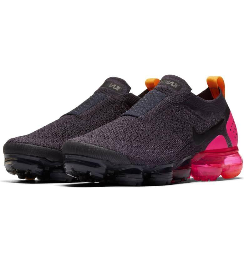 women's nike air vapormax flyknit moc 2 running shoes gunsmoke