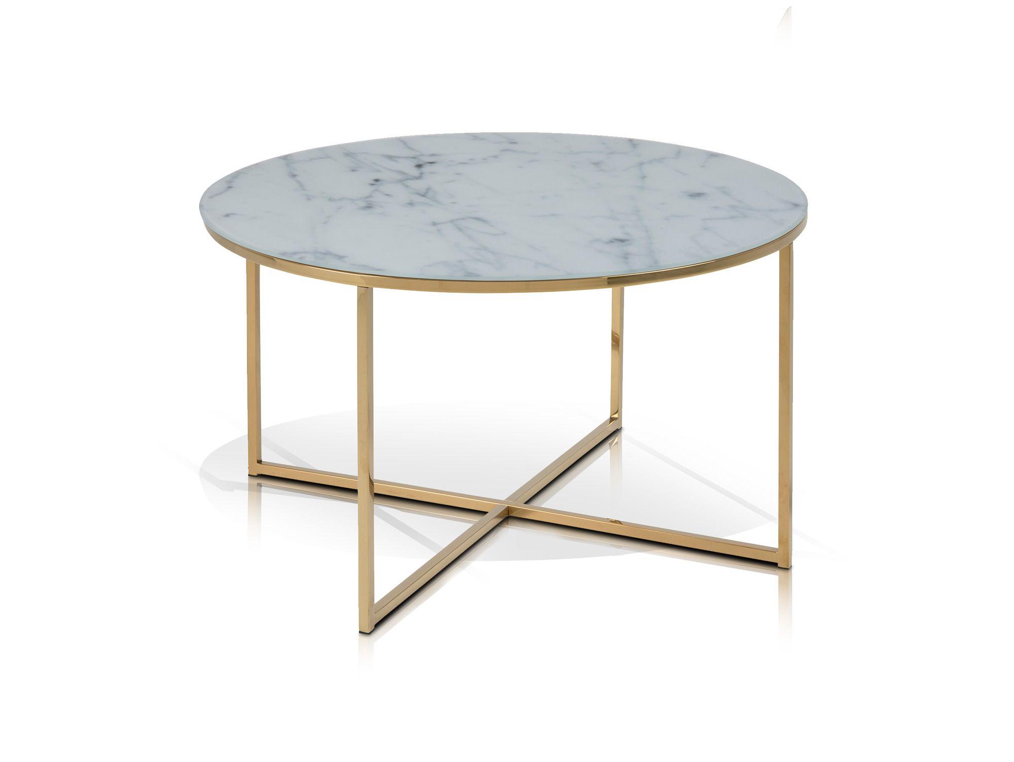 Aminda Couchtisch Rund 80 Cm Glasplatte Mit Marmorprint Gold Moderner Couchtisch In Toller Optik Wohnzimmer Couchtisch Modern Terrassentisch Couchtische