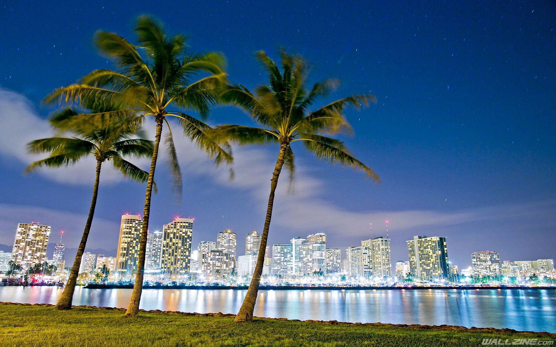 Honolulu Oahu Hawaii HD Desktop Wallpaper  Wallzine.com  Honolulu oahu, Hawaiian travel, Oahu