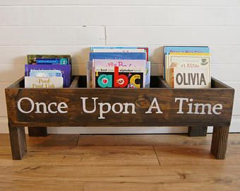 Nursery Book Shelf Baby Storage Bin Kids Bookcase Toy Stuffed Animal Room