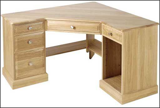 Solid Corner Pine L-Shaped Computer Desk | firewood rack