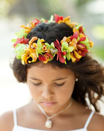 A gorgeous crown of flowers