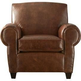 Philippe Leather Arm Chair In Tobacco From Mitchell Gold Bob Williams On Joss Main