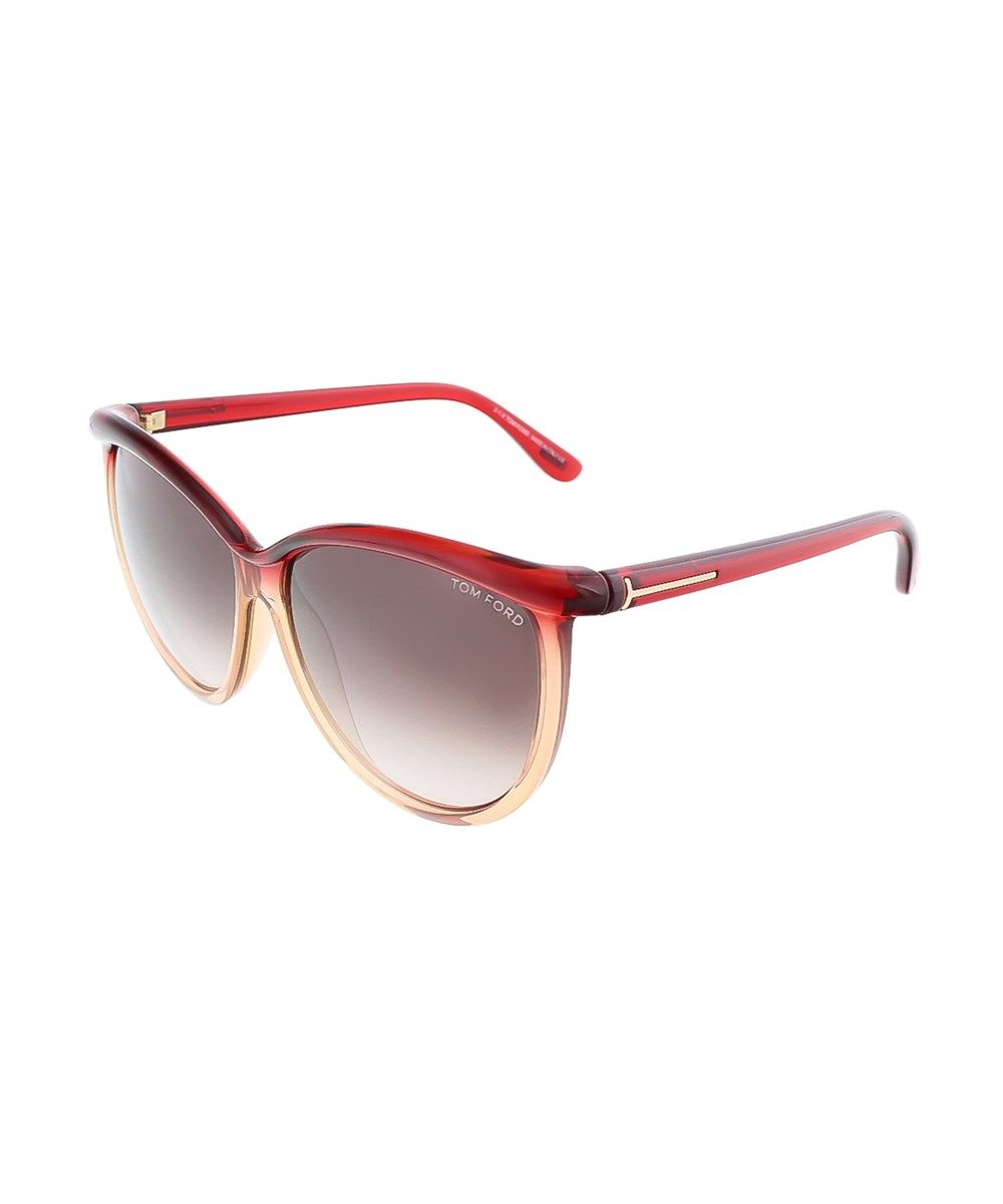 e109adad7b38 TOM FORD Ft0296 S 68F Josephine Transparent Red Honey Oversized Sunglasses .   tomford  sunglasses