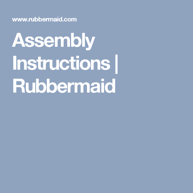 Rubbermaid storage shed assembly instructions youtube.