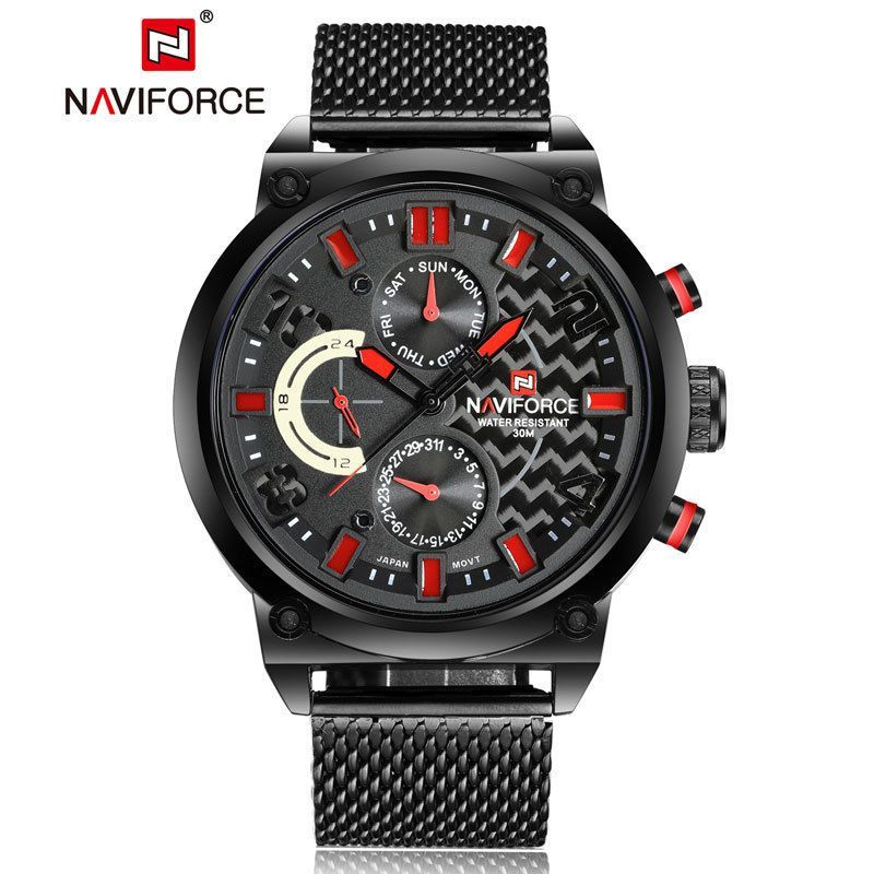 Fashion Naviforce Mens Quartz Date Stainless Steel Army Analog Sport ... 8d2942fd99