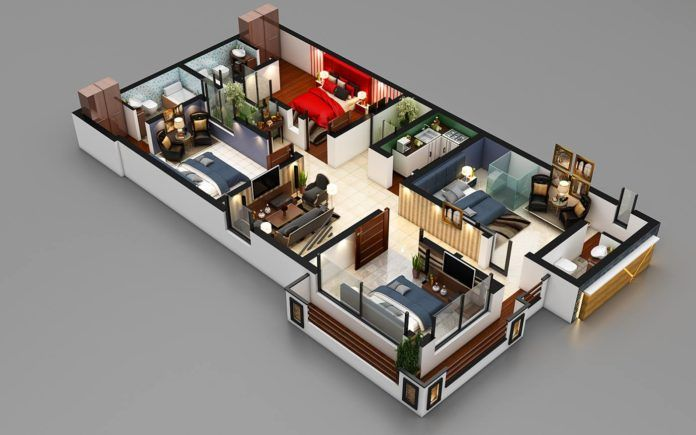 20 Stylish Modern Home 3d Floor Plans Architecture Design House Plans Best Small House Designs 4 Bedroom House Plans