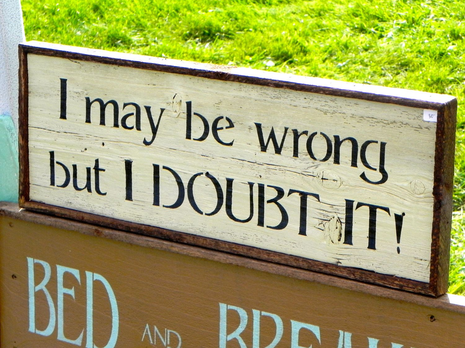 Handmade Wood Signs Rustic Decor Funny Signs by