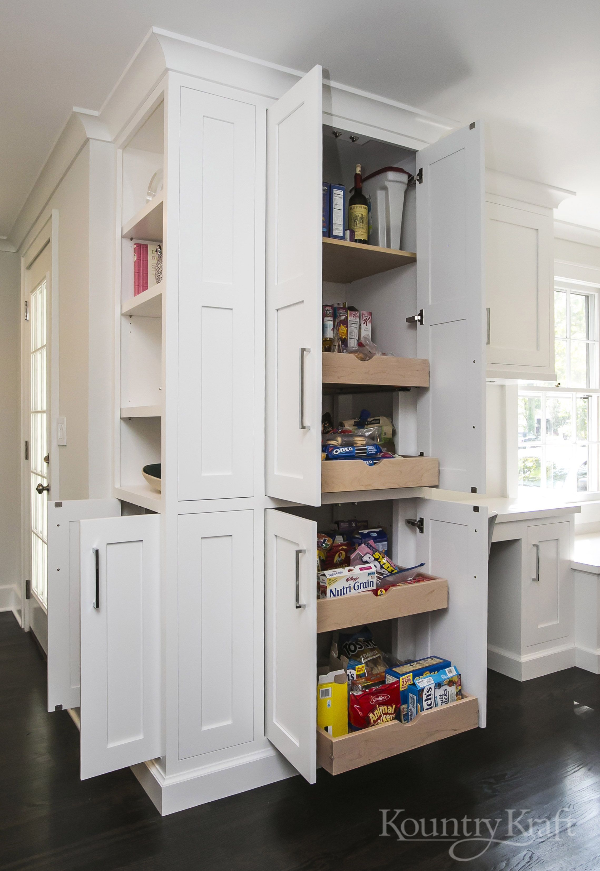 Wood Floor Kitchen Grey Cabinets Bath White E