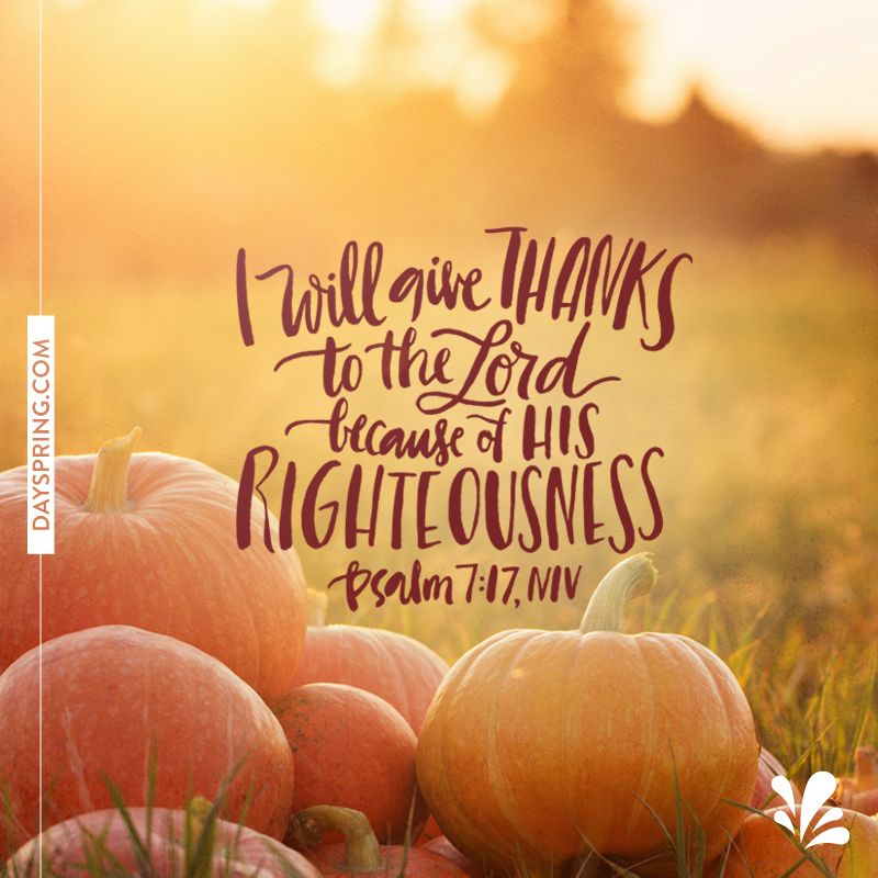 Best Thanksgiving Quotes From Bible: Thanksgiving Verses, Psalm 7, Bible Art