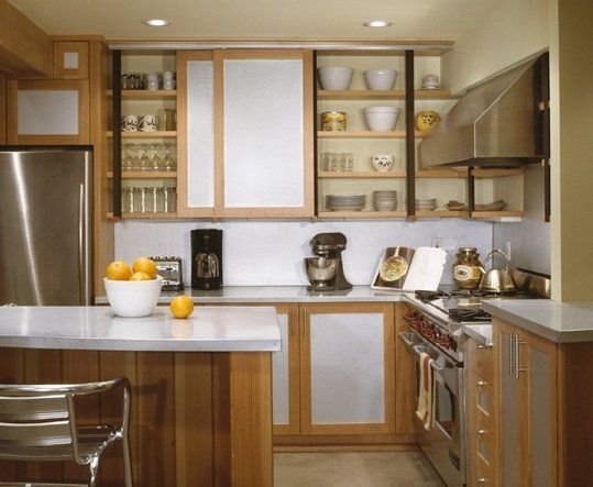 Small Kitchen Sliding Cabinet Doors Save Space Kitchens