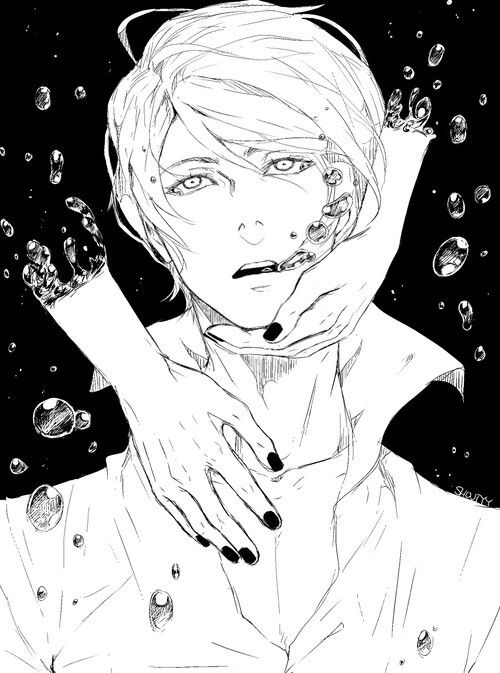 """Please don't go.""     Kaneki and Tsukiyama     Tokyo Ghoul Fan Art by shouty-y on Tumblr"
