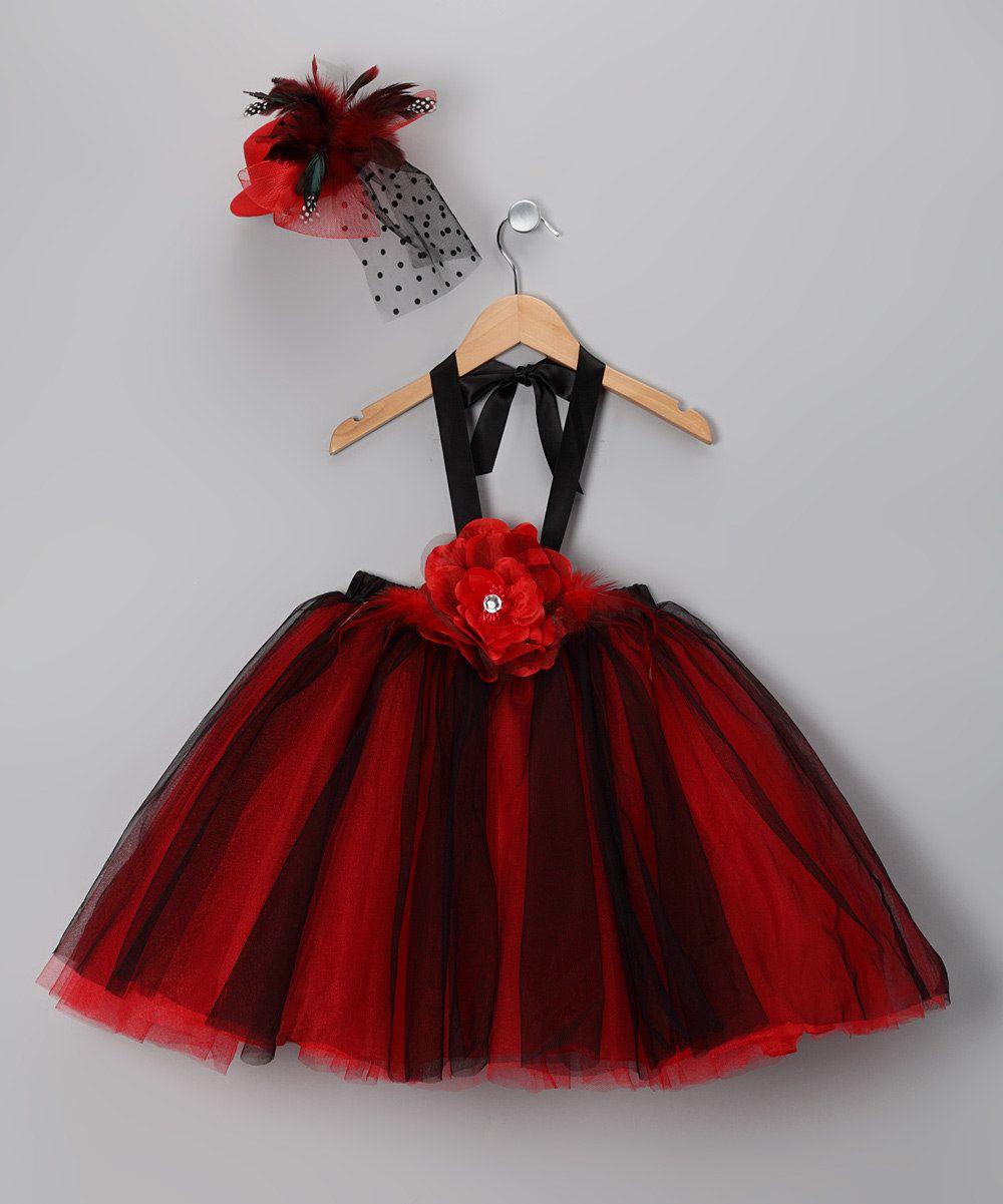 Red u black rose tulle dress set infant u toddler daily deals