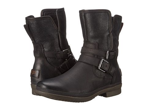 UGG Simmens Black Leather - Zappos.com Free Shipping BOTH Ways