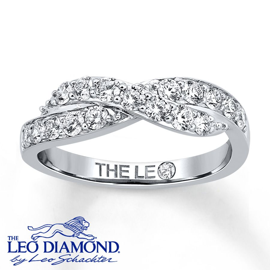 Leo Anniversary Ring 34 Ct Tw Diamonds 14k White Gold 41061805 Kay: Leo 3 Stone Wedding Bands At Reisefeber.org