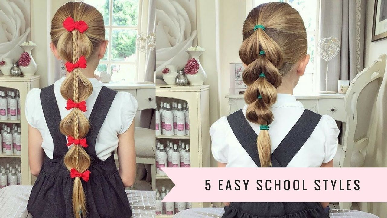 easy school hairstyles by sweethearts hair design youtube