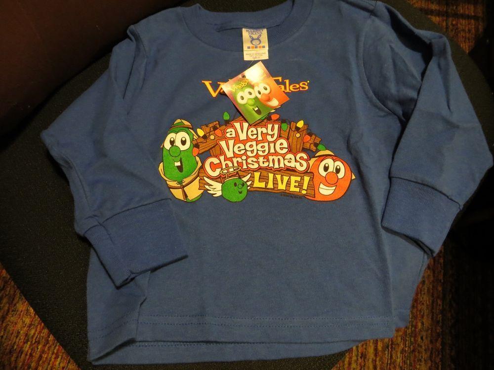 A Very Veggie Christmas.Nwt Toddler Sizes Veggie Tales A Very Veggie Christmas Live