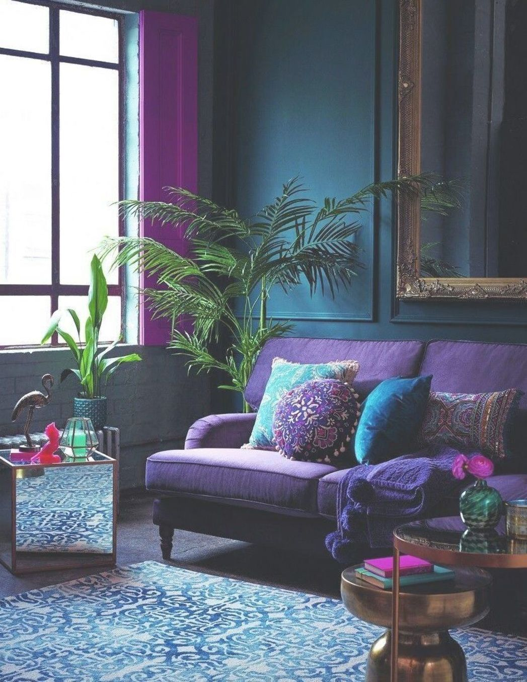 10+ Top Purple And Turquoise Living Room Ideas