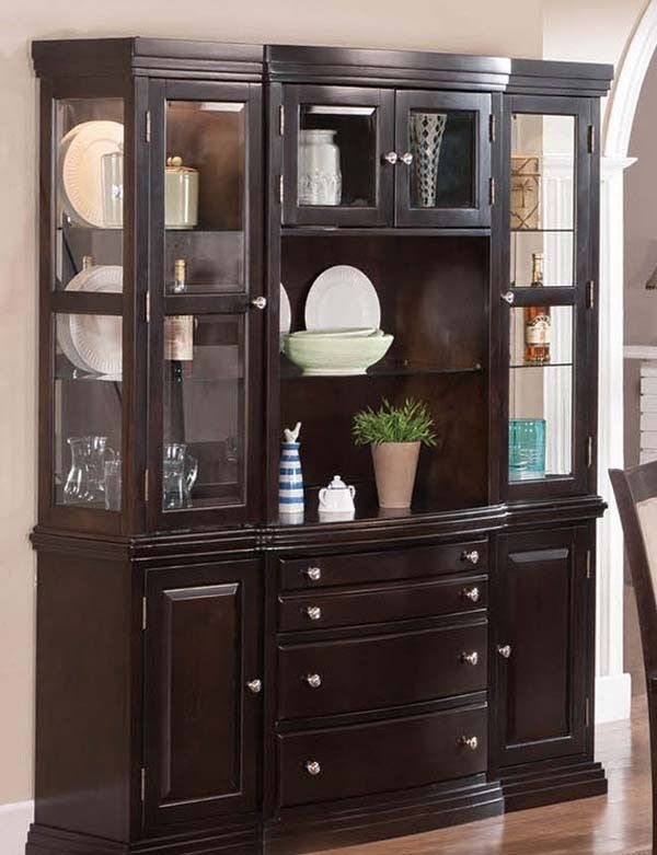 Mariano Furniture   Tony China Cabinet In Dark Cherry   BM32 CAB