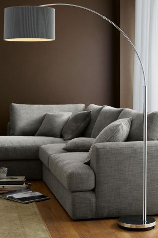 Living Room Ideas Buy Large Curve Arm Floor Lamp From The Next UK Online Shop