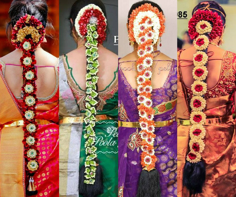South Indian Wedding Bridal Hairstyles: South_indian_wedding_bridal_hairstyles_with_flowers
