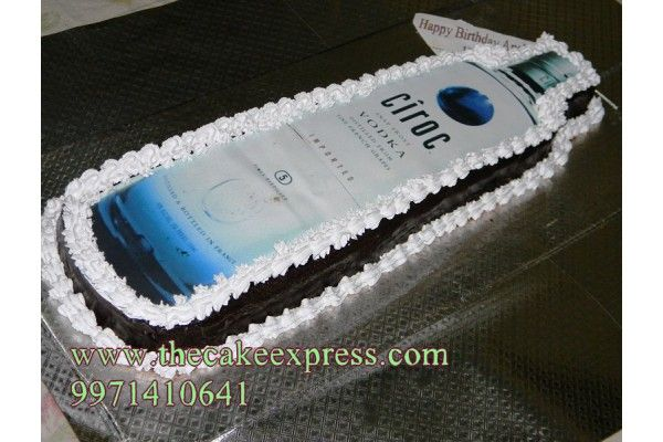 Ciroc Vodka Bottle Cake Smokers Cake Bottle Cake Birthday