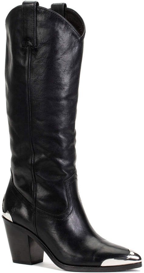 Frye Faye Metal Plate Leather Boot