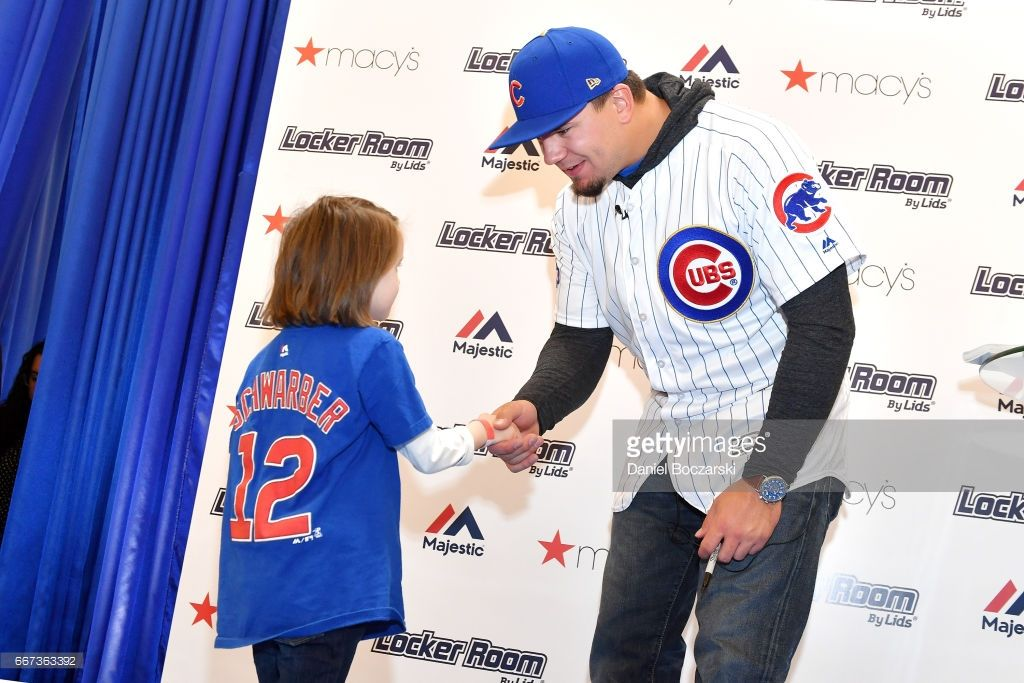 7b46bf8bebd Macy s Locker Room By Lids and Majestic welcome Chicago Cubs  Kyle  Schwarber to celebrate start at 2017 baseball season on April 11