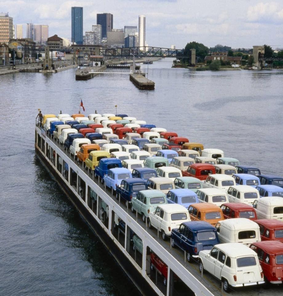 1980 la renault 4 sortait de l 39 usine de boulogne billancourt old cars what else - Garage renault boulogne billancourt ...